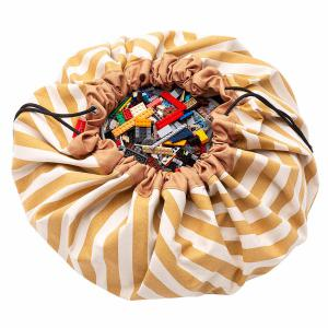 Play and Go - 30028 - Sacs de rangement Play and go Stripes Mustard - 140 cm (417600)