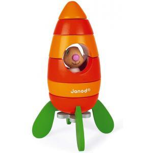 Janod - J08250 - Janod lapin - fusée carotte magnetique (418002)