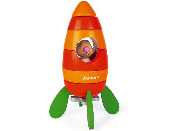 Janod lapin - fusée carotte magnetique