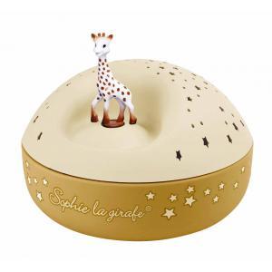 Trousselier - 5161 - Veilleuse - Projecteur d'Etoiles Musical Sophie la Girafe© 12 Cm  Caramel- Piles Inclues (418674)