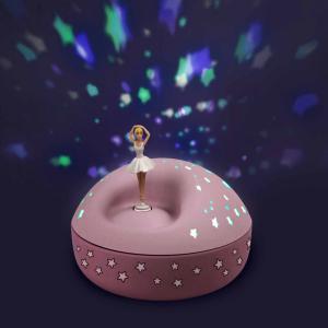 Trousselier - 5111 - Veilleuse - Projecteur d'Etoiles Musical Ballerine 12 Cm - Piles Inclues (418676)