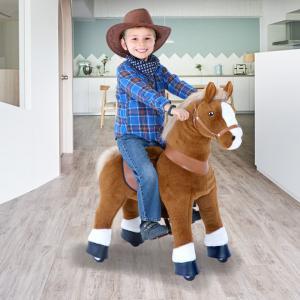 Ponycycle - U324 - Cheval marron clair et bas des jambes blancs petit modèle - 69x33x79 cm (418696)