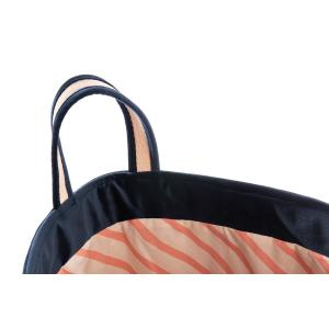 Nobodinoz - N113296 - Sac à jouets Nobodinoz Savanna velours coton night blue (418758)