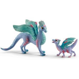 Schleich - 70592 - Dragon aux fleurs avec son petit (419996)