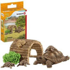 Schleich - 42506 - Figurine Maison pour tortues - Dimension : 13,6 cm x 5,8 cm x 19,2 cm (420024)