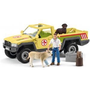 Schleich - 42503 - Visite du vétérinaire à la ferme (420030)