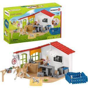 Schleich - 42502 - Cabinet vétérinaire avec animaux (420032)