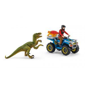 Schleich - 41466 - Fuite sur quad face au vélociraptor (420056)