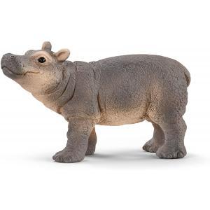 Schleich - 14831 - Figurine Jeune hippopotame - Dimension : 6 cm x 2,8 cm x 3,4 cm (420104)