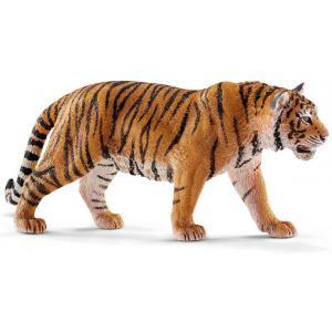 Schleich - 14729 - Figurine Tigre du Bengale mâle - Dimension : 13 cm x 3 cm x 6 cm (420112)