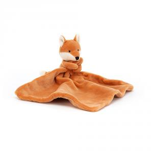 Jellycat - MYF4FS - Doudou plat renard My Friend Soother - L = 12 cm x l = 22 cm x H =22 cm (420194)
