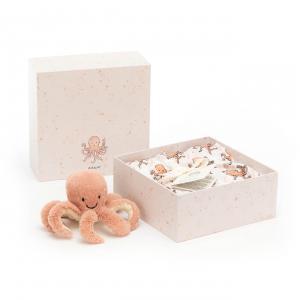 Jellycat - OD2SET - Coffret naissance pouple Odell rose lange + peluche - L = 8 cm x l = 18 cm x H =18 cm (420214)