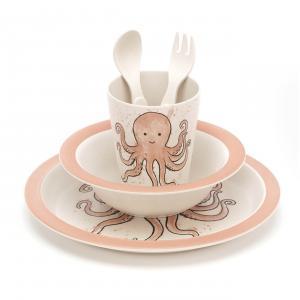 Jellycat - OD4BAM - Odell Octopus Bamboo Set - 25 cm (420216)