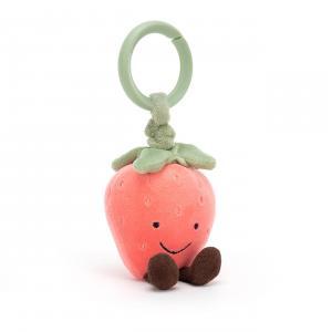 Jellycat - AJ4S - Anneau peluche fraise Amuseable - L = 2 cm x l = 4 cm x H =13 cm (420236)