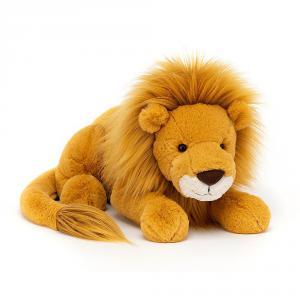Jellycat - LOU1L - Peluche lion Louie - L = 14 cm x l = 46 cm x H =14 cm (420304)
