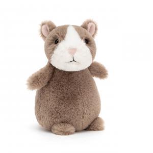 Jellycat - HH6N - Peluche hamster Happy nutmeg - L = 9 cm x l = 8 cm x H =15 cm (420440)