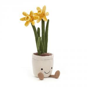 Jellycat - A2D - Peluche jonquille plante Amuseable - L = 7 cm x l = 7 cm x H =30 cm (420542)