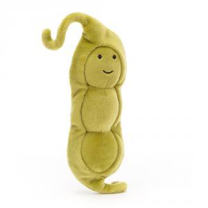 Jellycat - VV6PEA - Peluche haricot Vivacious Vegetable - L = 4 cm x l = 6 cm x H =17 cm (420566)