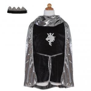 Great Pretenders - 61967 - Set chevalier (tunique, cape, couronne), argent, taille EU 116-128 - 6-8 ans (421270)