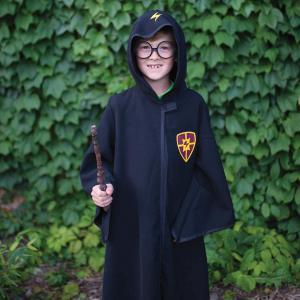 Great Pretenders - 62197 - Magicien noir Harry (manteau et lunettes), taille EU 116-128 - 6-8 ans (421280)