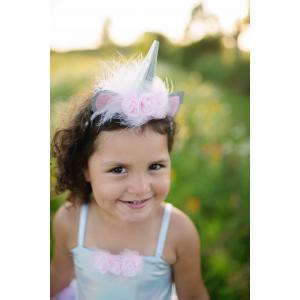 Great Pretenders - 70551 - Robe de licorne argent iridescent avec coiffe, taille EU 104-116 - 4-6 ans (421312)