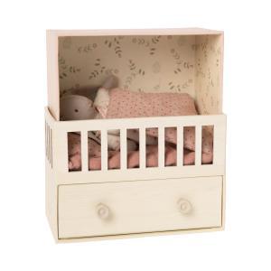 Maileg - 16-0021-00 - Baby room w. Micro bunny - Taille 17 cm - à partir de 36 mois (421632)