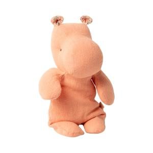 Maileg - 16-0920-00 - Peluche Safari friends, Petit Hippo - abricot - 22 cm (421674)
