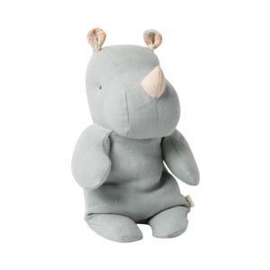 Maileg - 16-0921-02 - Peluche Safari friends, Petit Rhino -  22 cm (421716)