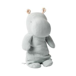 Maileg - 16-0922-00 - Safari friends, Medium Hippo - Blue/Grey  - Taille 34 cm - de 0 à 36 mois (421718)