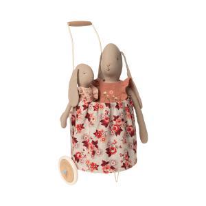 Maileg - 11-0404-01 - Panier à roulettes pour poupées - Rose -  56 cm  (421736)
