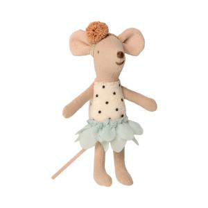 Maileg - 16-0726-01 - Little Miss Mouse in suitcase, Little sister - Taille 10 cm - de 0 à 36 mois (421750)