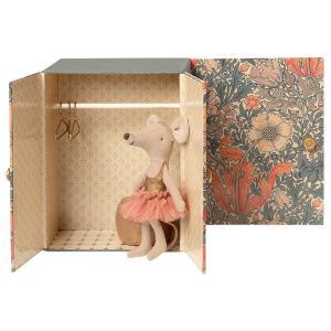 Maileg - 16-0600-00 - Souris dansante, Grande Sœur dans sa salle de danse -  13 cm  (421756)