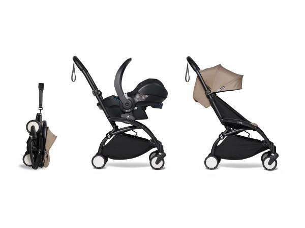 Yoyo 2 poussette pratique taupe et siège auto bébé izi go modular - noir 6+
