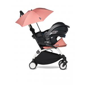 Babyzen - BU339 - Poussette compacte YOYO2 ginger avec siège auto bébé iZi Go Modular et ombrelle (cadre blanc 0+) (421952)