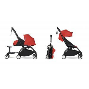 Berenguer - BU514 - Poussette maniable YOYO2 rouge avec planche à roulettes noir 0+ 6+ (422212)