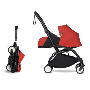 Berenguer - BU280 - Poussette YOYO2 naissance confortable rouge cadre noir 0+ (422428)