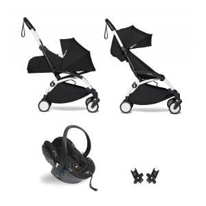 Babyzen - BU305 - YOYO2 pack poussette Babyzen noir avec siège auto iZi Go Modular - blanc 0+ 6+ (422478)