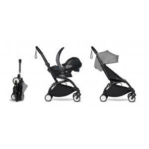 Babyzen - BU331 - YOYO 2 poussette pratique et légère gris avec siège auto bébé iZi Go Modular - noir 6+ (422530)