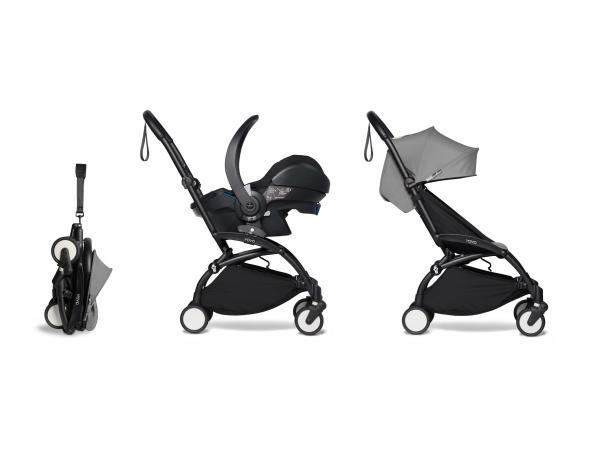 Yoyo 2 poussette pratique et légère gris avec siège auto bébé izi go modular - noir 6+