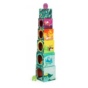 Moulin Roty - 668210 - Cubes empilables Dans la jungle (422700)