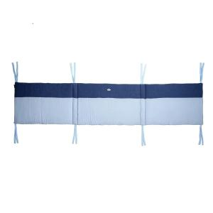 Candide - 135280 - Tour de lit jersey matelassé/lange bleu pour lit 60x120 cm ou 70x140 cm (422896)