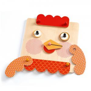 Djeco - DJ01676 - Jeux éducatifs bois - CreaFaces (423028)