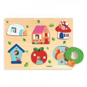 Djeco - DJ01064 - Puzzle bois Coucou-house (423044)
