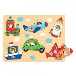 Djeco - DJ01063 - Puzzle bois Coucou-vroum (423046)