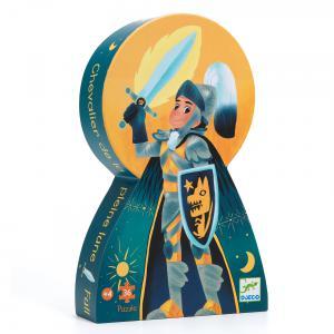 Djeco - DJ07237 - Puzzles silhouettes - Le chevalier de la pleine lune-36pcs (423150)