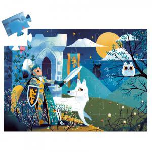 Djeco - DJ07237 - Puzzle silhouettes Le chevalier de la pleine lune-36pièces (423150)