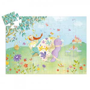 Djeco - DJ07238 - Puzzles silhouettes - La princesse du printemps - 36 pcs (423152)