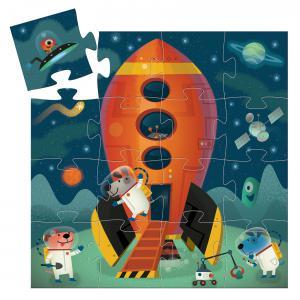Djeco - DJ07271 - Puzzles silhouettes - Navette spatiale - 16 pcs (423154)