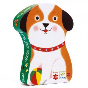 Djeco - DJ07280 - Puzzle silhouettes Firmin, petit chien - 24 pièces (423156)