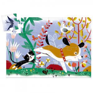 Djeco - DJ07280 - Puzzles silhouettes - Firmin, petit chien - 24 pcs (423156)